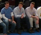Eli Manning at the Knicks game